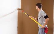 Механизированная покраска помещений,  стен,  потолков.